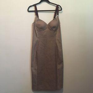 Stella McCartney Tan Plaid Sheath Tan Dress 10